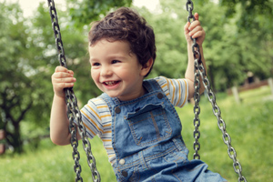 Photo of a child on a swing