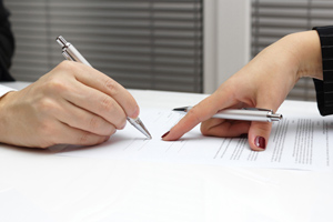 Photo of a business agreement