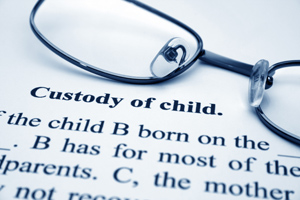 Photo of a child custody agreement
